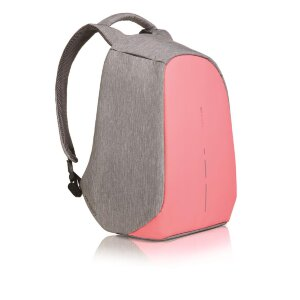 XD Design Bobby Compact anti-theft backpack, coralette (Рюкзак Бобби компакт серый / розовый)